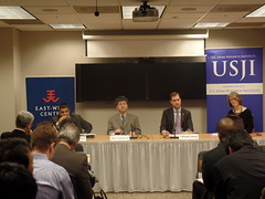 From left to right: Dr. Satu Limaye, Professor Akio Takahara, Mr. Nathaniel Ahrens and Ms. Susan Lawrence.