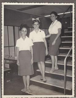 three ladies in uniform - 1960s