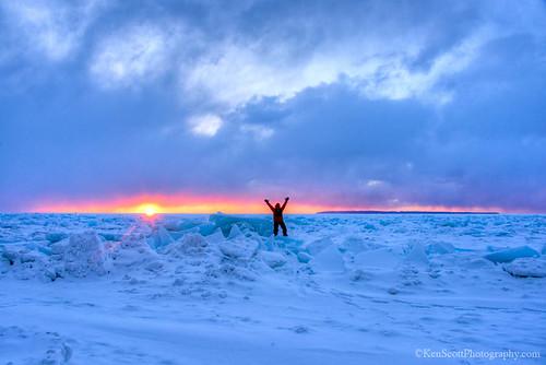 Lake Michigan ... high five x 2