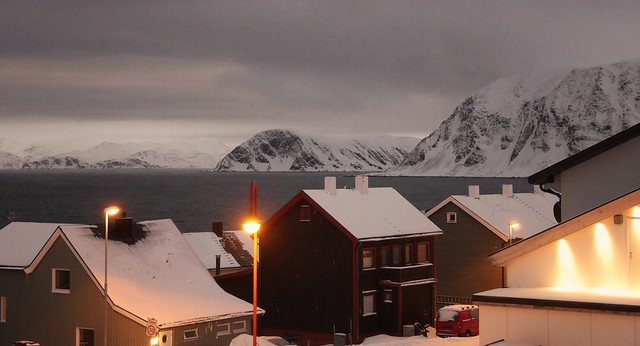 Honningsvaag the northernmost city of Norway (Arctic)