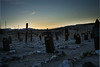 Tonopah Cemetery at Sunset