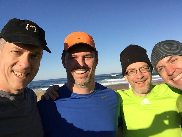 After beach run with Chris, Jim, Doug, and Greg