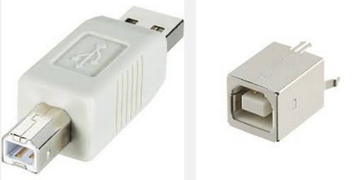 USB-B Male and Female
