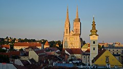 Zagreb Cathedral - St. Maria Church on Dolac - uptown view Zagreb