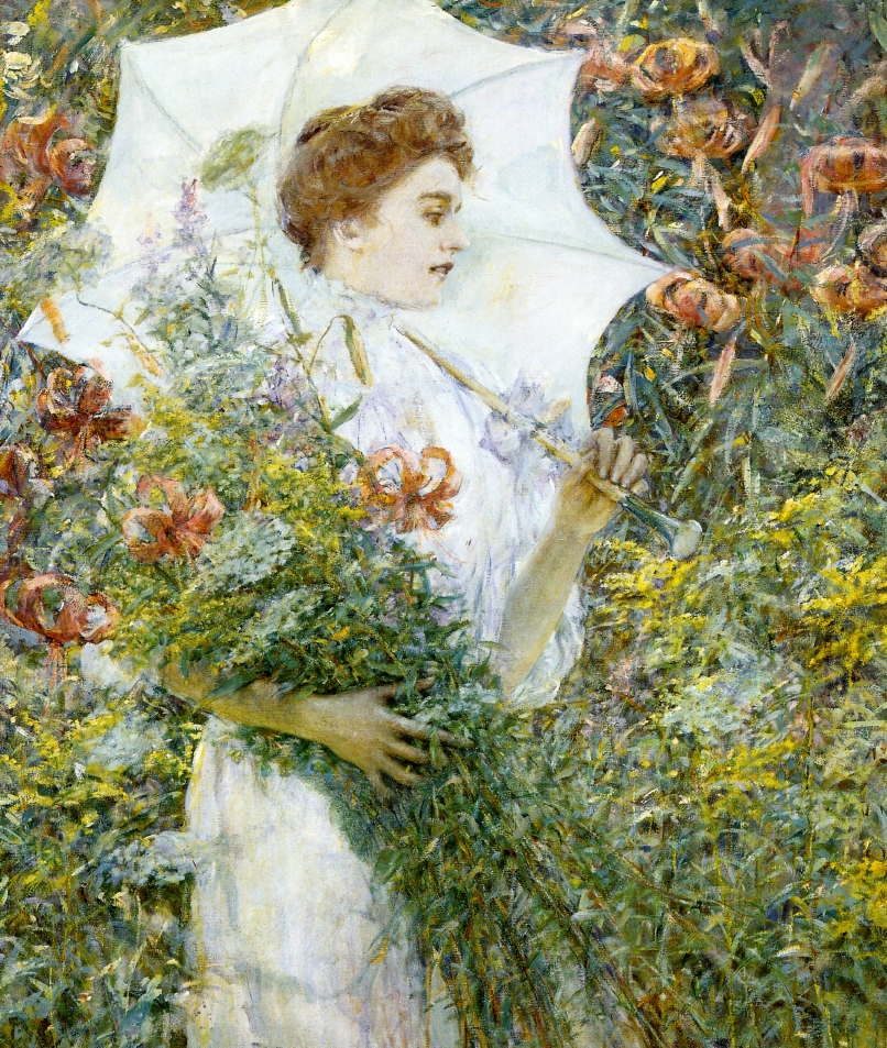 The White Parasol by Robert Lewis Reid, 1907