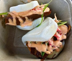hirata buns with kakuni from Torraku Ramen food tr…