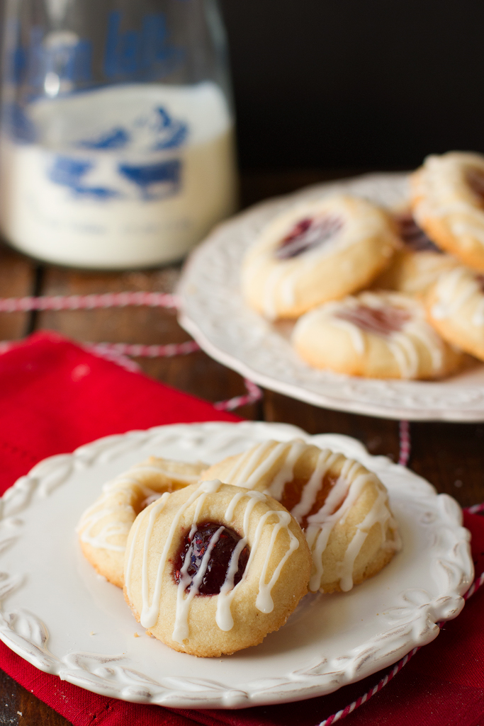 Apricot Raspberry Thumbprint Cookies