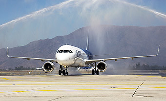 LAN A321 llegada a SCL (LATAM Airlines)