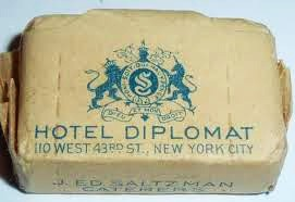 Hotel Diplomat, NYC, NY - Promotional Sugar Cube Packet (Circa 1950's - 1960's)