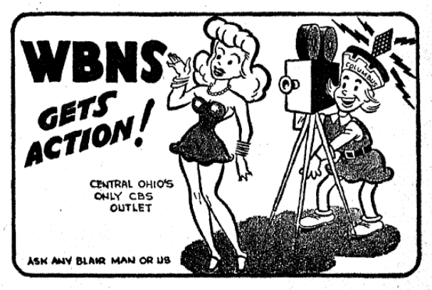 WBNS - Columbus, Ohio U.S.A. - published in The Billboard - January 5, 1946
