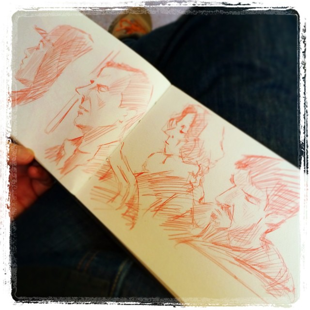 #train #urbansketch #kurutoga #uni #pencil #portrait #tiger #red