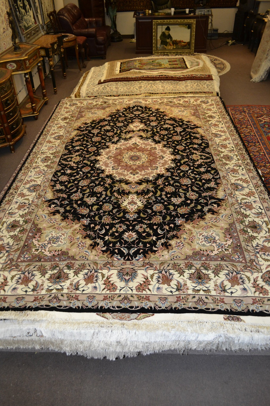 Taghizadeh black Persian Rug 7x10 Tabriz (3)