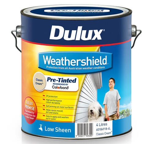 Dulux Exterior Weathershield has unique MaxiFlex Stretch Technology
