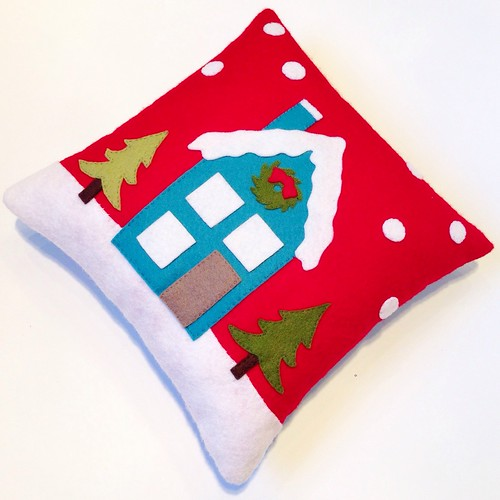 Mini felt winter solstice pillow