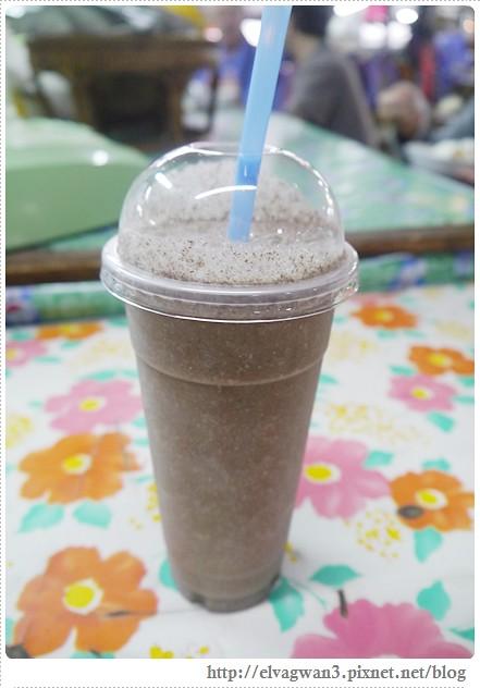 泰國-泰北-清邁-Somphet Market-Tip's Best Fresh Fruit Smoothie-市場-果汁攤-酸奶水果沙拉-燕麥水果優格沙拉-香蕉Ore0-泰式奶茶-早餐-22-1-636-1
