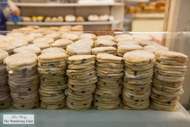 Fresh Welsh cakes at The Bread Stall at Cardiff Market