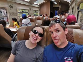 Peru Rail Selfie - Destination Aguas Calientes