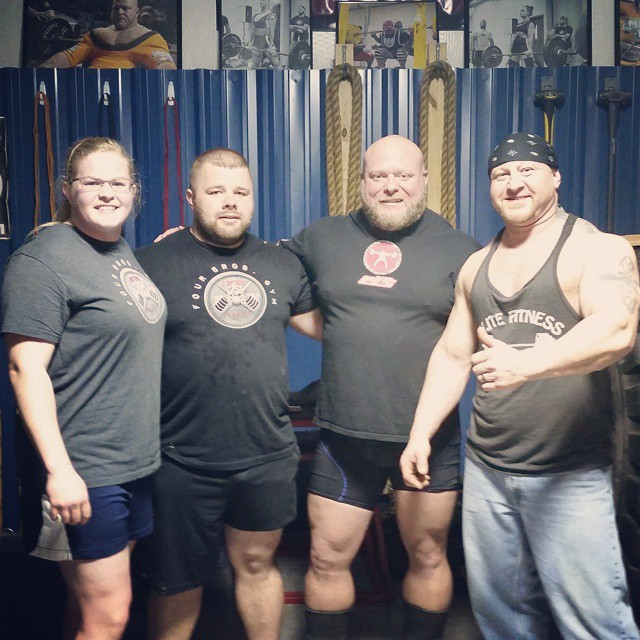 Iron Mafia out of Kentucky at Nebobarbell tonight training. Such an honor to have Matt and Kelli Allen train with our Team tonight....
