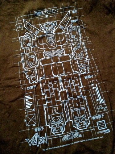 January 2015 Loot Crate Voltron shirt