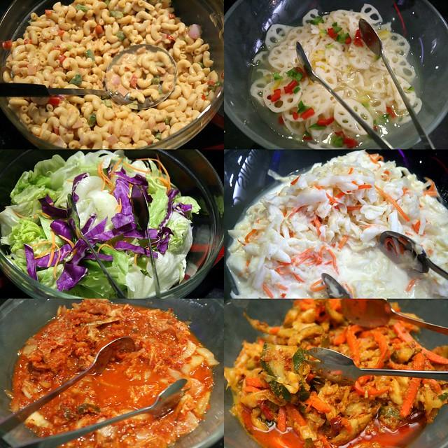 Salads of various kinds at K Box