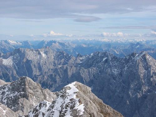 alps germany landscape zugspitze