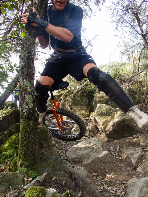 Chris bailing on Lower Tilly Trail