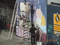 2014 09_Montevideo_Pintando un muro