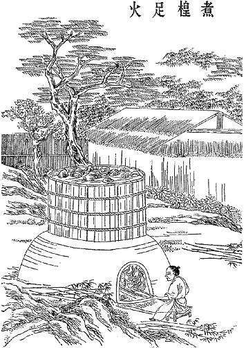 An illustration depicting the paper-making process designed by Cai Lun (2)