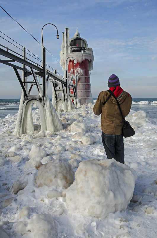 Ice Boulders at South Haven