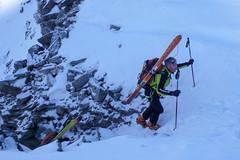 Wejście na przełęcz Col de Passon. Nasz przewodnik Paul.
