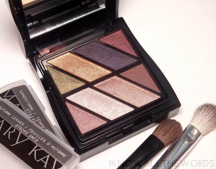 mary kay mineral eye colour quad- sandstorm and autumn leaves  (1)