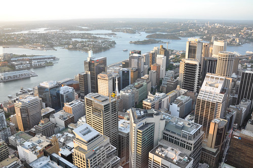 Sydney CBD as seen from the Sydney Tower