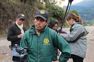 Los guardias ambientales participan en la creación de las películas