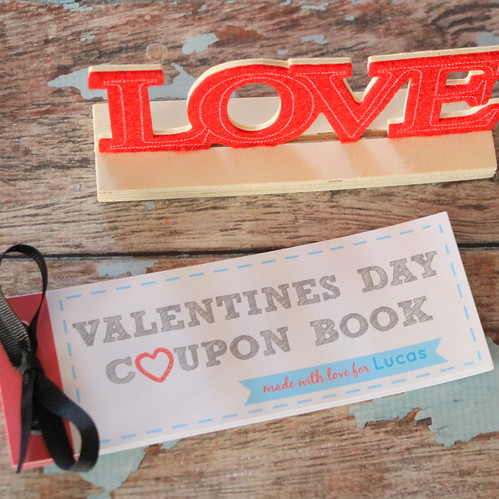 Valentine's Day Printables coupons with Love desk ornament decoration
