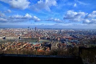 Above Lyon, France