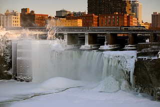 High Falls in the cold