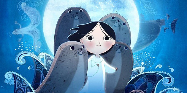 Saoirse (Lucy O'Connell) reveals herself to be a a selkie of Celtic myth in SONG OF THE SEA.