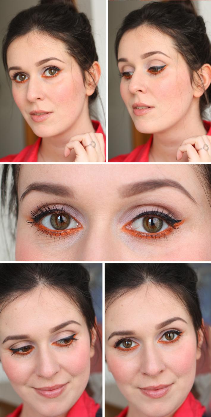 make up tutorial: upside down orange cat eye