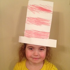 Someone made a #catinthehat #hat today. #seuss  #DrSeuss #ineedanewwallcolorforpictures