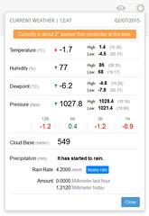 01:46 Temp. 11.1°C, Hum. 64%, Dewp. 3.4°C, Bar. 1032.5 hpa, Rain Today 0 mm http://t.co/fAIAFv8rnM