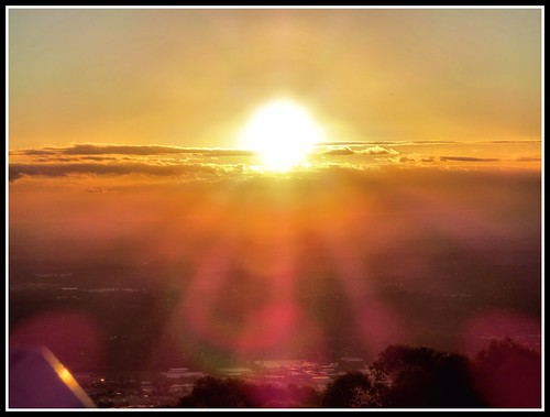 sunset sunshine view