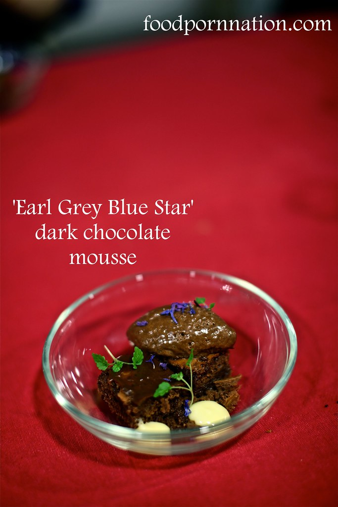 London Food Blog - Startisans, Covent Garden - Tasting Room, 'Earl Grey Blue Star' dark chocolate  mousse