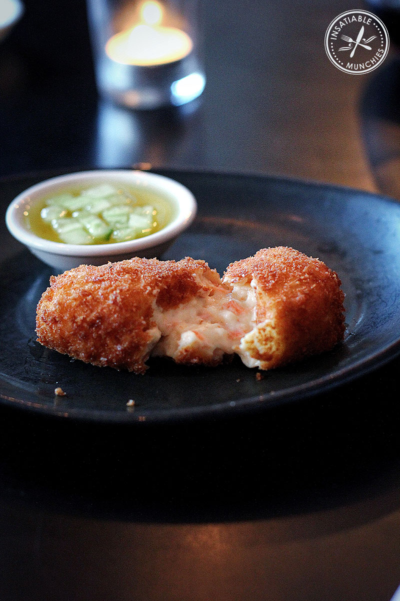 Ocean Trout Croquettes with Fresh Cucumber Pickle