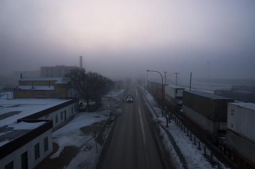 winter snow canada building fog architecture winnipeg manitoba