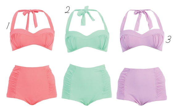 pastel swimsuits