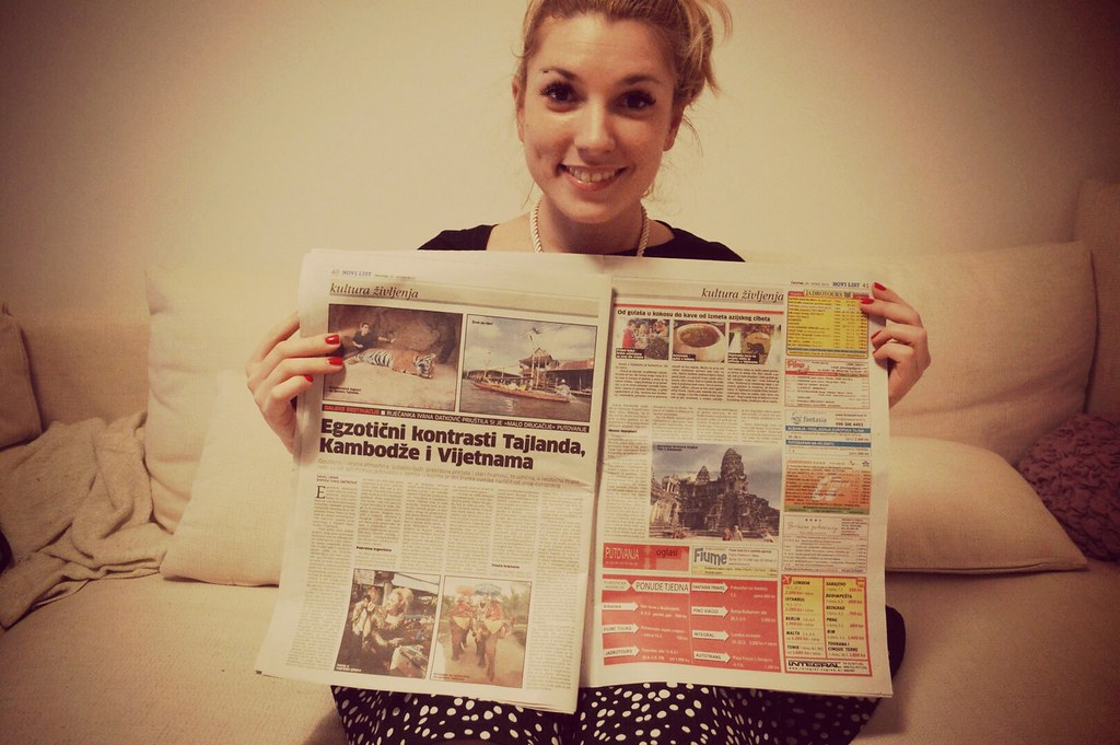 Ivana my host in daily news with her travels