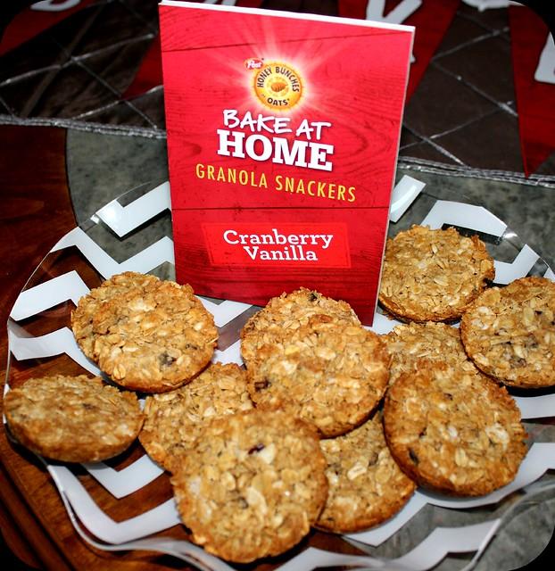 cranberry vanilla granola snackers