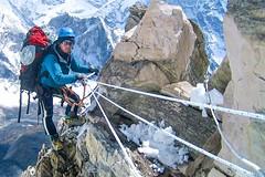 Expedition Ama Dablam, Aufstieg am Südwestgrat zum Lager 2. Fotoi Archiv Härter.