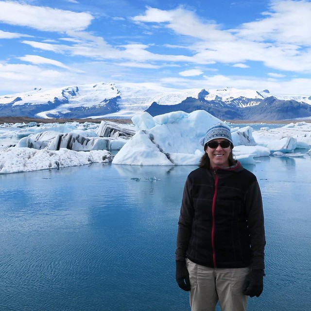 Then we walked around a glacial lagoon! # #Iceland