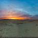 Playa Sunset Panorama, Burning Man 2016 by Michael Holden